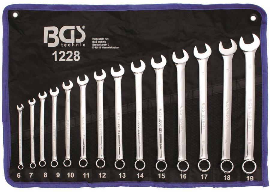 BGS Profi Doppel-Ringschlüssel-Satz 6-32 mm CV 12 teilig tief doppelt gekröpft