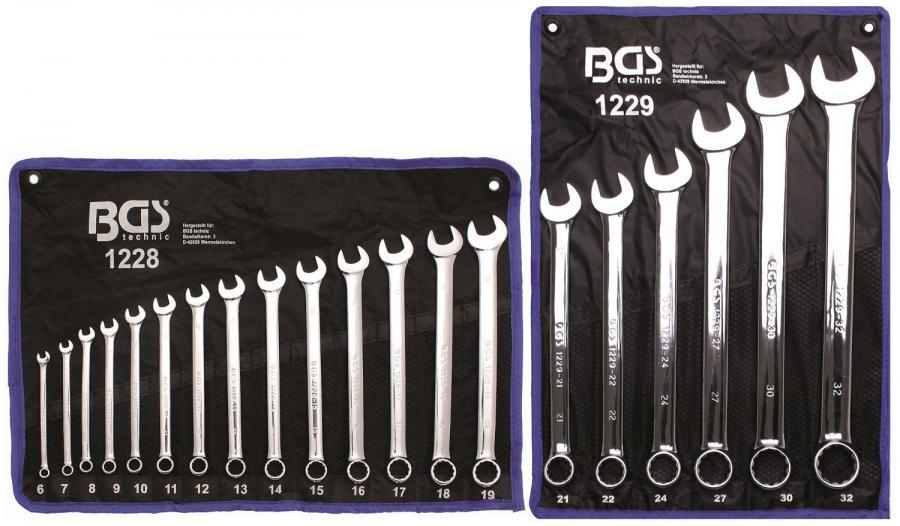 BGS 1228 Maul-Ringschl/üssel-Satz 6-19 mm 14-tlg. extra lang